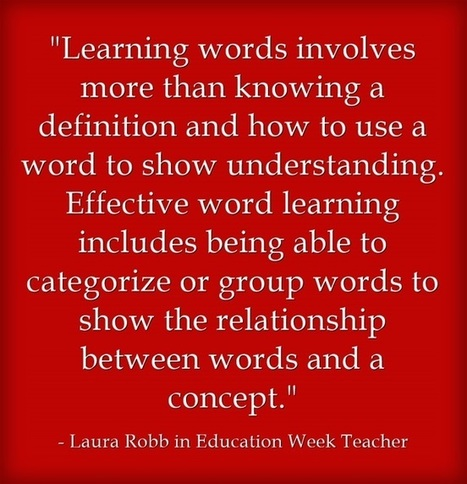 Response: Ten Principles for Vocabulary Instruction | Hot Issues in Education | Scoop.it
