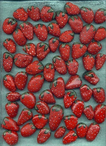 DIY : Strawberry stones forever   Recyclart   DIY & Crafts   Scoop.it