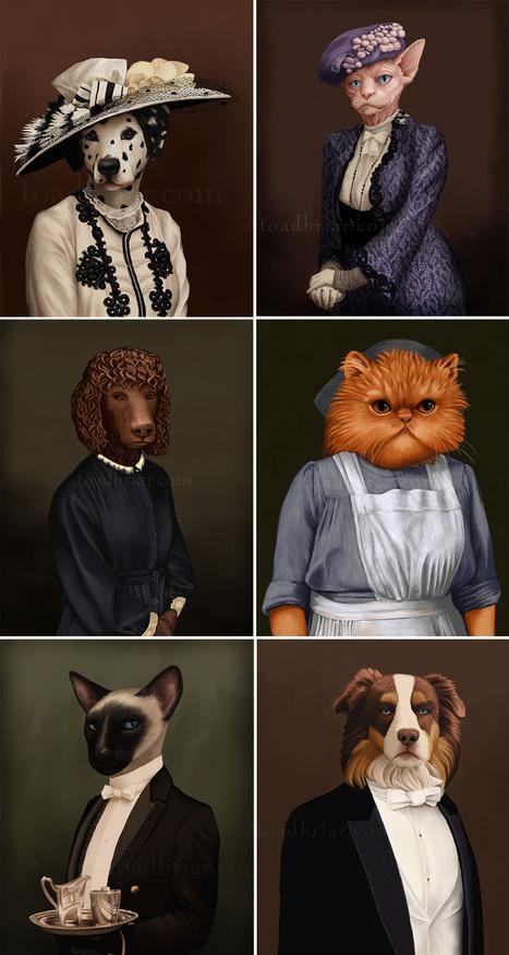Downton Abbey : le casting en mode chat et chien | Fashion Pets | Scoop.it