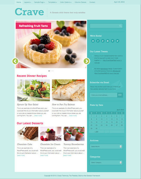 Crave WordPress Cookery Magazine  Theme for Womens | Hamptons Real Estate | Scoop.it
