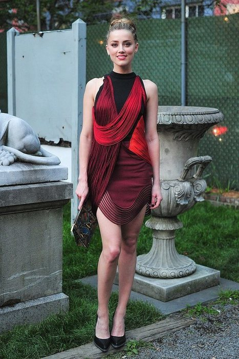 Amber Heard in lovely cocktail dress   Summer clothes   Scoop.it