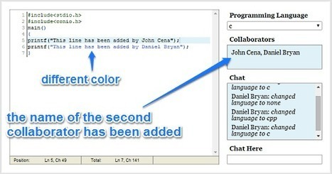 Online Real-Time Collaborative Code Editor with Built-In Chat | Time to Learn | Scoop.it