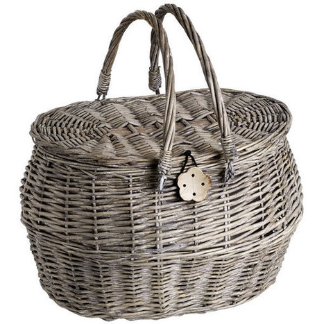 Wicker fishing basket | Antique Accessories | Scoop.it