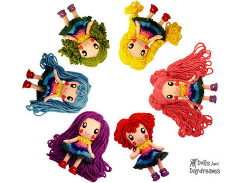 Cute Anime Doll Sewing Patterns DIY Manga Girl Toy Super Kawaii Chibi Rainbow Baby Japanese Pop Style | Creative Dolls and Doll Making | Scoop.it