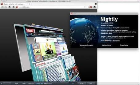 Firefox : bientôt la structure des pages web en 3D - Clubic | Firefox | Scoop.it