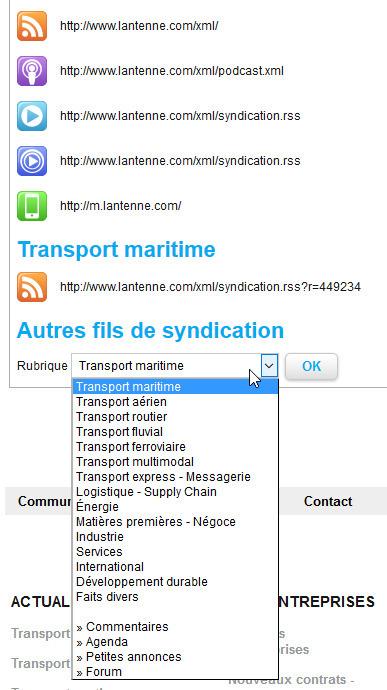 L'Antenne (transports et logistique) : des fils RSS bien cachés | François MAGNAN  Formateur Consultant | Scoop.it