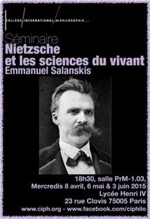 Seminaire Nietzsche et les sciences du vivant. Programme 2014-2015 février à juin | Philosophie en France | Scoop.it