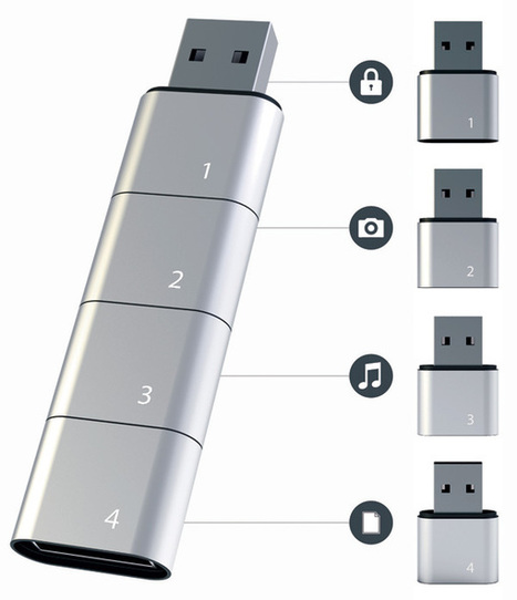 Amoeba Modular USB Flash Drive by Hyunsoo Song » Yanko Design | Ca m'interpelle... | Scoop.it