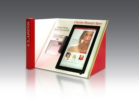Clarins teste les écrans digitaux en magasin | E-commerce, M-commerce : digital revolution | Scoop.it
