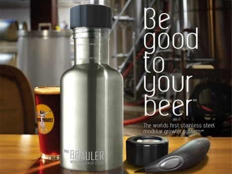 Bräuler Modular Growler System Keeps Your Beer from Going Flat | International Beer News | Scoop.it