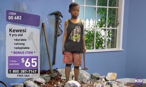 «No child for sale», un Télé-achat où des enfants sont à vendre | Be_Graphic | Scoop.it