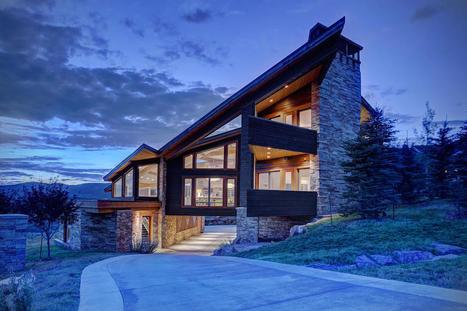 magnifique maison contemporaine bois et pierre. Black Bedroom Furniture Sets. Home Design Ideas