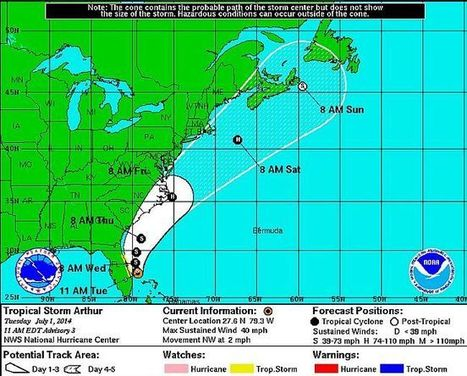 Tropical Storm Forming off US Coast - VOCM | Nova Scotia Fishing | Scoop.it