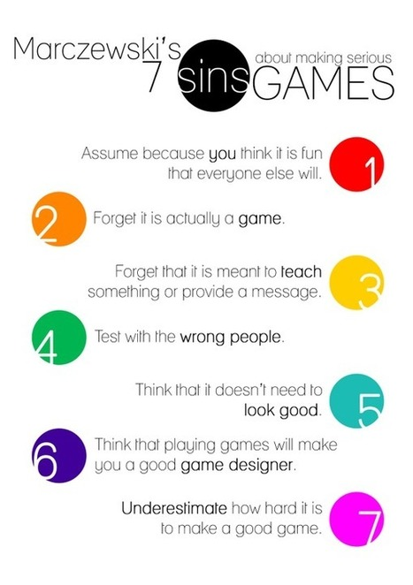 7 Deadly sins of making serious / educational games - Gamified UK Blog | Games and education | Scoop.it