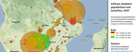 Google Maps Mania: African Elephant Populations on Google Maps | Digital Cartography | Scoop.it