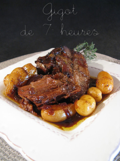 Gigot de 7 heures (gigot braisé) | recipes chicken, meat | Scoop.it