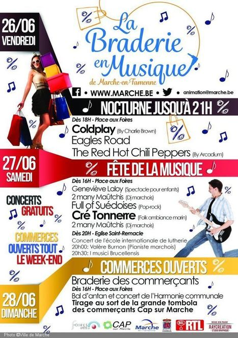 Marche en Fête! Fête de la musique et braderie des commerçants | Cré Tonnerre | Scoop.it