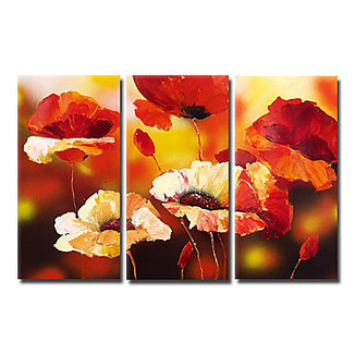 Floral Cherry Blossom Oil Painting - Set of 3 - | Oil paintings Gallery | Scoop.it