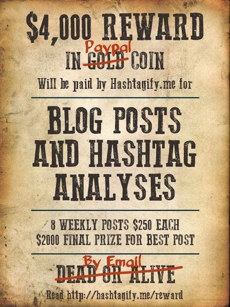 Write About Hashtags And Win – $4,000 Reward | Hashtagified! | Blogging Contests | Scoop.it