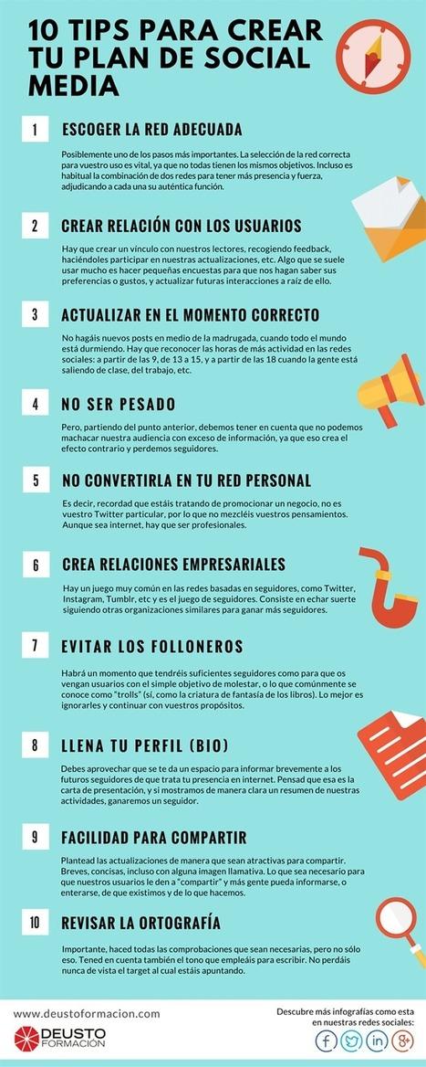 10 consejos para crear un Plan de Redes Sociales #infografia #infographic #socialmedia | Las Tics y las ciencias de la informacion | Scoop.it