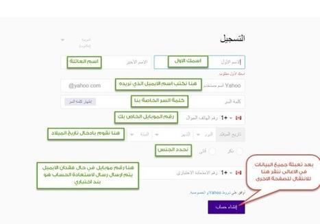شرح طريقة عمل ايميل ياهو أو انشاء ايميل على الياهو 2015 | tech-araby | Scoop.it