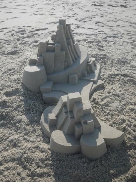 Amazing Modernist Sandcastles Sculpted by Calvin Seibert | Natural Sculptures | Scoop.it