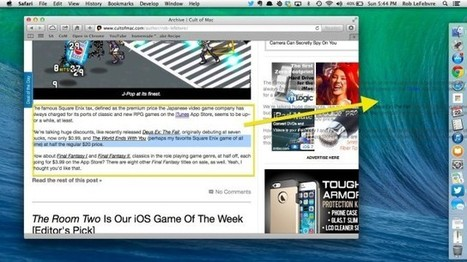 Quickly Save Text From The Web To Your Desktop [OS X Tips] | Mac Basics - OSX and iOS | Scoop.it