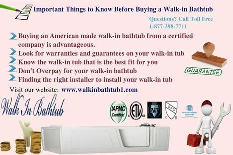 Important Things to Know Before Buying a Walk-in Bath tub | Kitchen Bath Store | Scoop.it