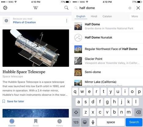 Wikipedia se dote d'une nouvelle application sur iOS | Applications Iphone, Ipad, Android et avec un zeste de news | Scoop.it