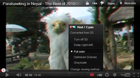 Δυνατότητα μετατροπής απλών βίντεο σε 3D για όλους προσθέτει το YouTube | omnia mea mecum fero | Scoop.it
