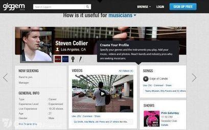 Giggem, le LinkedIn des musiciens | Réseaux Sociaux - Social Media | Scoop.it