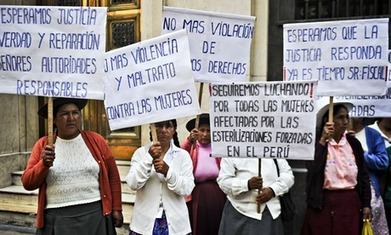 Peruvian women intent on bringing state to book over forced sterilisations | News in english | Scoop.it