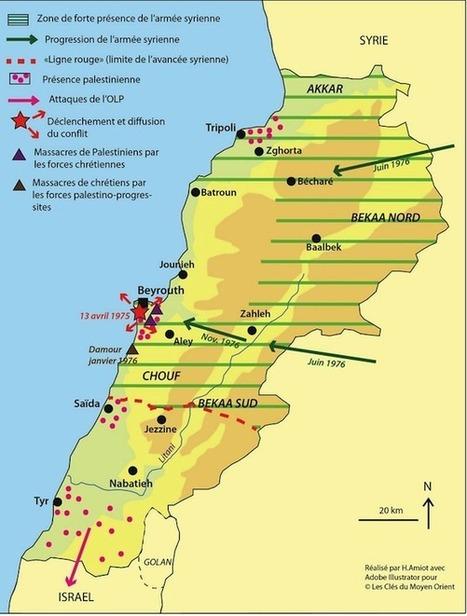 Chronologie illustrée du conflit libanais (1975-1990) - Les clés du Moyen-Orient | ECS Géopolitique de l'Afrique et du Moyen-Orient | Scoop.it