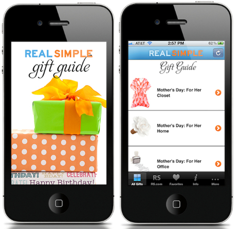 'Real Simple' Gift Guide App | iPad and iPhone Gifts, Gift Guides and Ideas | Scoop.it