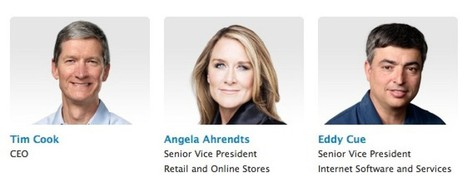 New Retail Chief Angela Ahrendts Appears on Apple's Leadership Page | The Latest on Talent Management | Scoop.it