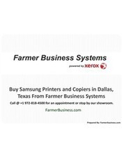 Buy Samsung Printers and Copiers in Dallas, Texas from Farmer Business Systems | Farmer Business System - Xerox, Samsung, Sharp Printers and Copiers | Scoop.it