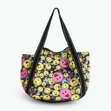 ILEA - [Happiness] 100% Cotton Eco Canvas Shoulder Tote Bag / ladies clothing | homeschooling | Scoop.it