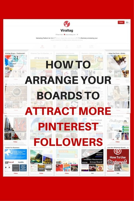 How to Arrange Your Boards to Attract More Followers | Pinterest | Scoop.it