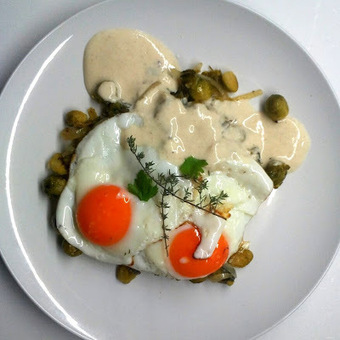 À Catanada na Cozinha: Ovos fritos com Couve de Bruxelas e Iogurte com Gengibre | Foodies | Scoop.it