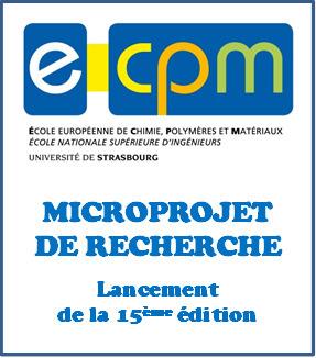 Microprojet de Recherche de l'ECPM : lancement de la 15ème édition | ECPM Strasbourg | Scoop.it
