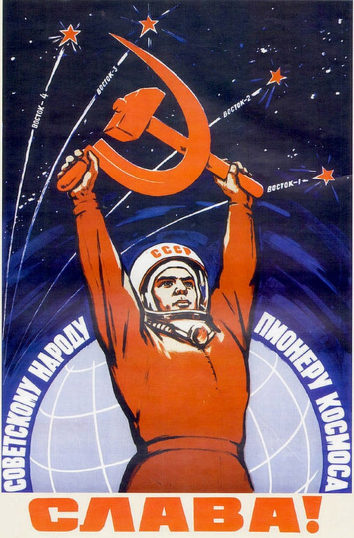 Propaganda posters of Soviet space program 1958-1963 · Russia travel blog | Kitsch | Scoop.it