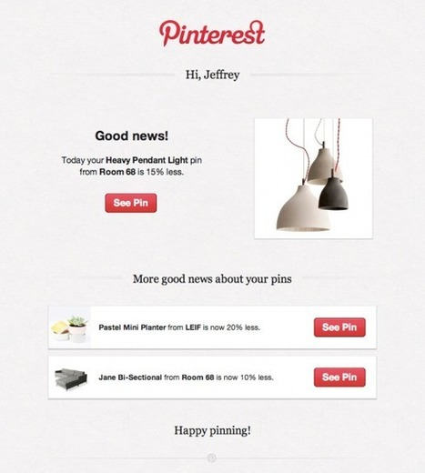 SALE ALERTS - Pinterest Now Sends Alerts When Items You Pin Go on Sale | Pinterest for Business | Scoop.it