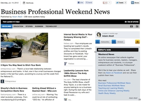 """July 14 """"Business Professional Weekend News"""" 