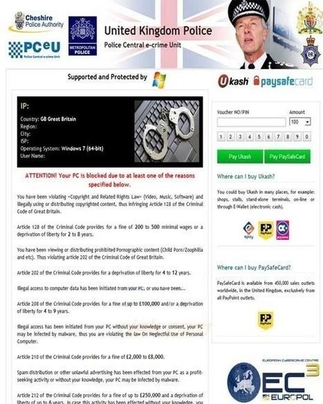 Computer Virus Manual Removal: Cheshire Police Ukash Virus: Unlock Computer from Cheshire Police Authority Virus   Metropolitan Police Virus   Scoop.it