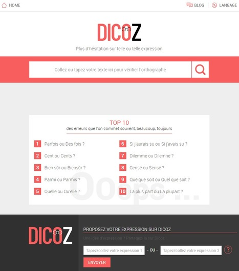 Dicoz : Dictionnaire en ligne sur l'orthographe de vos expressions ! | Time to Learn | Scoop.it