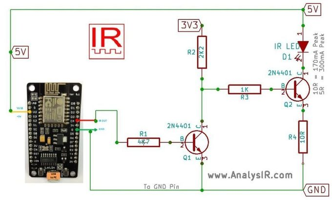 Esp8266 infrared lamp - 4