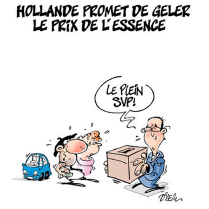 François Hollande promet de geler le prix de l'essence ! | Baie d'humour | Scoop.it
