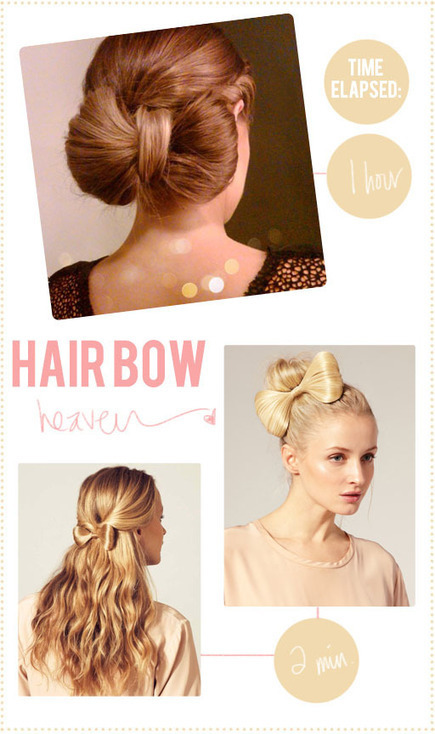 How to Create Easy Bow Hairstyle | Easy Hairstyles | Easy-Hairstyles.com | Scoop.it
