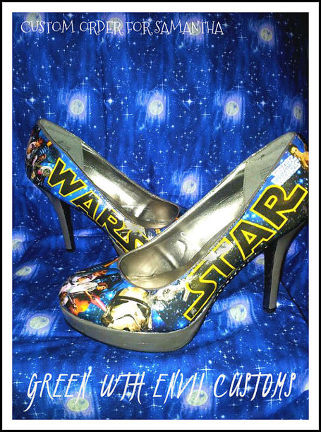 STAR WARS custom made high heels. SOLD Order yours now | GeekGasm | Scoop.it
