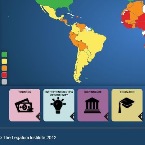 The 2012 Legatum Prosperity Index | einesvisuals | Scoop.it